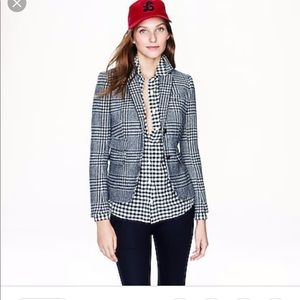 Nwot j.crew schoolboy blazer in gown plaid